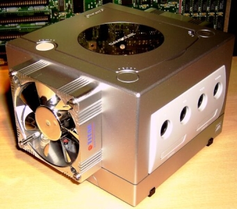 gamecube with fan